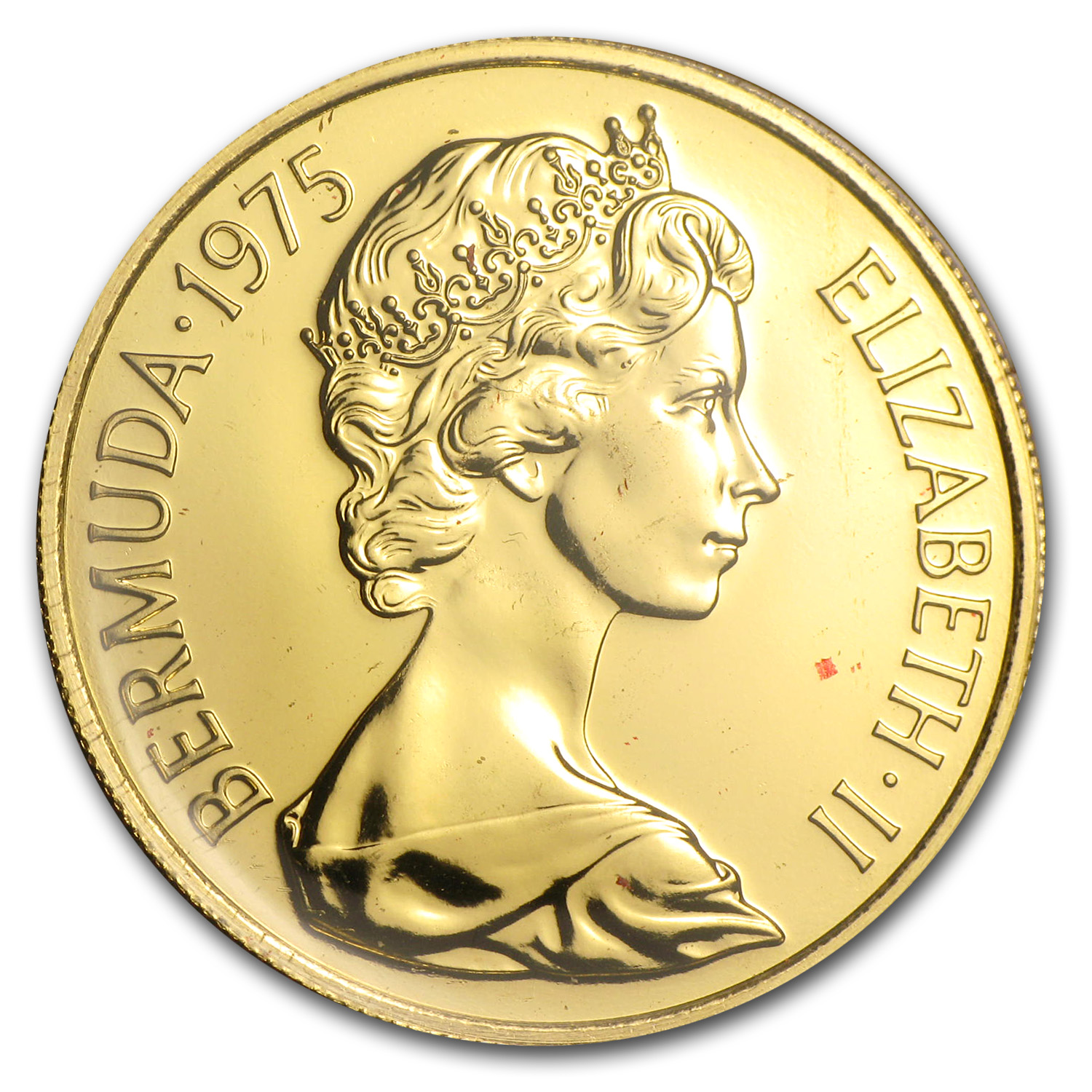 Bermuda 1975 Gold $100 - Royal Visit (Proof/BU)